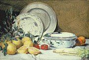Porcelain Paintings - Still Life by Julian Alder Weir