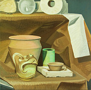 Toilet Painting Originals - Still life by Ken Bruzenak