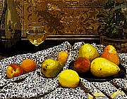 Peaches Art - Still Life by Marion McCristall