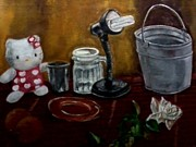 Hello Kitty Paintings - Still Life by Mark anthony Mocay