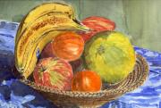 Grapefruit Painting Prints - Still Life Print by Mike Lester