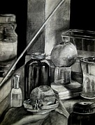 Still Life Drawings Prints - Still Life Print by Molly Markow