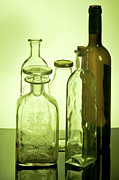 Assorted Posters - Still life of bottles  Poster by Ilan Amihai