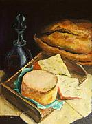 Food Prints - Still Life Of Cheese Print by Diane Kraudelt