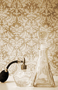Decanters Photo Prints - Still life of perfume decanters Print by Marlene Ford