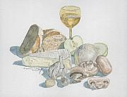 Garlic Originals - Still Life of White Food by Dominic White