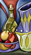 Fruit Still Life Digital Art Posters - Still Life One Poster by David Kyte