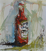 Ketchup Paintings - Still Life Painting with Ketchup Bottle by Robert Joyner
