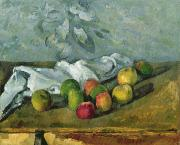 Cloth Framed Prints - Still Life Framed Print by Paul Cezanne