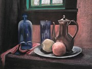 Window Pastels - Still Life by Penny Zay
