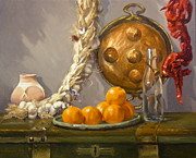 Tangerines Originals - Still Life by Roger Clark
