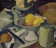 Lemons Painting Framed Prints - Still Life Framed Print by Roger de La Fresnaye
