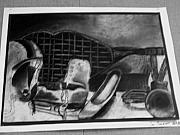 Racket Drawings - Still Life by Samantha Overstreet