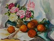 Table Cloth Paintings - Still Life Series No. 4 by Min Wang