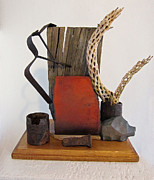 Found Metal Sculpture Prints - Still Life Print by Snake Jagger