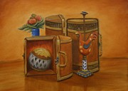 Interior Still Life Painting Metal Prints - Still Life Metal Print by Stacy Bottoms