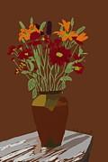 Kate Farrant - Still Life Vase of Flowers