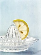 Lemons Photo Framed Prints - Still Life With A Half Slice Of Lemon Framed Print by Priska Wettstein