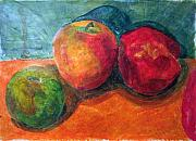 Jame Hayes Posters - Still Life with Apples Poster by Jame Hayes