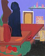 Interior Still Life Paintings - Still Life With Balzac by Vijayan Kannampilly