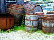Shed Digital Art Posters - Still Life with Barrels Poster by RC DeWinter