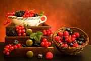 Food And Beverage Photo Originals - Still Life With Berries by Shopartgallery