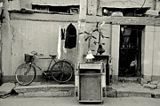 Peking Prints - Still Life with Bicycles and Laundry Print by Dean Harte
