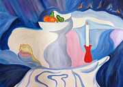 Finance Painting Originals - Still Life with candle. by Seshadri Sreenivasan