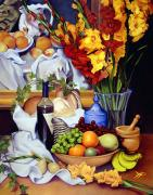Wooden Bowl Paintings - Still Life with Cezanne by Patrick Anthony Pierson