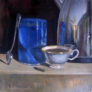 Teapot Paintings - Still life with Coffee Beans by Eleonora Mingazova