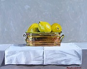 Copy Paintings - Still Life with copper and lemons by Paul De Haan