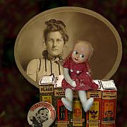 Books Digital Art - Still life with doll by Jeff Burgess