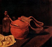 1884 Digital Art - Still Life with Earthenware Bottle and Clog by Van Gogh