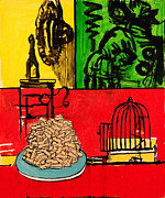 French Fries Painting Posters - Still Life with French Fries Poster by Richard Huntington