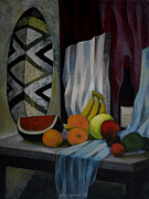 Jukka Nopsanen Framed Prints - Still Life with Fruit Framed Print by Jukka Nopsanen