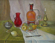 Russia Painting Originals - Still Life with fruit by Valery Semenov
