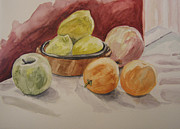 Potery Prints - Still life with fruits Print by Kate Partali
