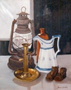 Antiques Paintings - Still life with lantern by Marie Dunkley