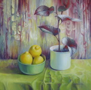 Lemons Originals - Still life with lemons by Elena Oleniuc