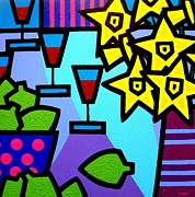 Colourful Prints Art - Still Life With Limes by John  Nolan