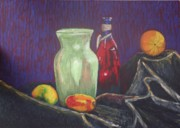 Mango Painting Originals - Still-life with mangoes by Iryna Ivanova