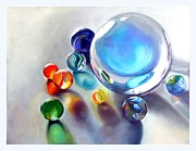 Toys Pastels - Still Life With Marbles 05 by Sue Gardner