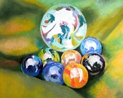 Toys Pastels - Still Life With Marbles 08 by Sue Gardner