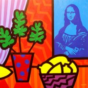 Homage Painting Posters - Still Life with Matisse and Mona Lisa Poster by John  Nolan