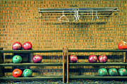 Brick Wall Prints - Still Life With No Glow In Dark Balls Print by E. Treffly Coyne