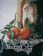 Oranges Painting Originals - Still life with Oranges by Aleksandra Buha