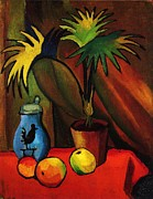 Macke Framed Prints - Still Life with Palm Framed Print by Pg Reproductions