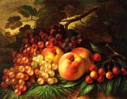 Peaches Painting Prints - Still Life With Peaches Print by Pg Reproductions