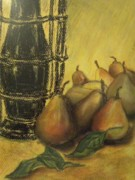 Oil Lamp Originals - Still life with pears by Rita Bandinelli