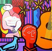 Picasso Paintings - Still Life With Picassos Dream by John  Nolan
